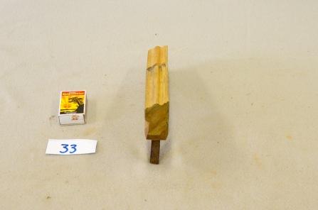 33. Profilhøvel. L:235 H:54 B:30 Vinkel i seng: 47 grader. Material: Bjørk.