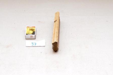 37. Profilhøvel L:190 H:49 B:21 Vinkel i seng: 44 grader. Material: Bjørk.